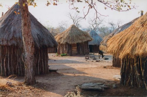A real Zimbabwean village.